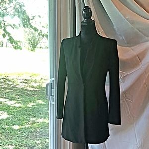 ZARA black snap button fitted blazer/jacket Sz S